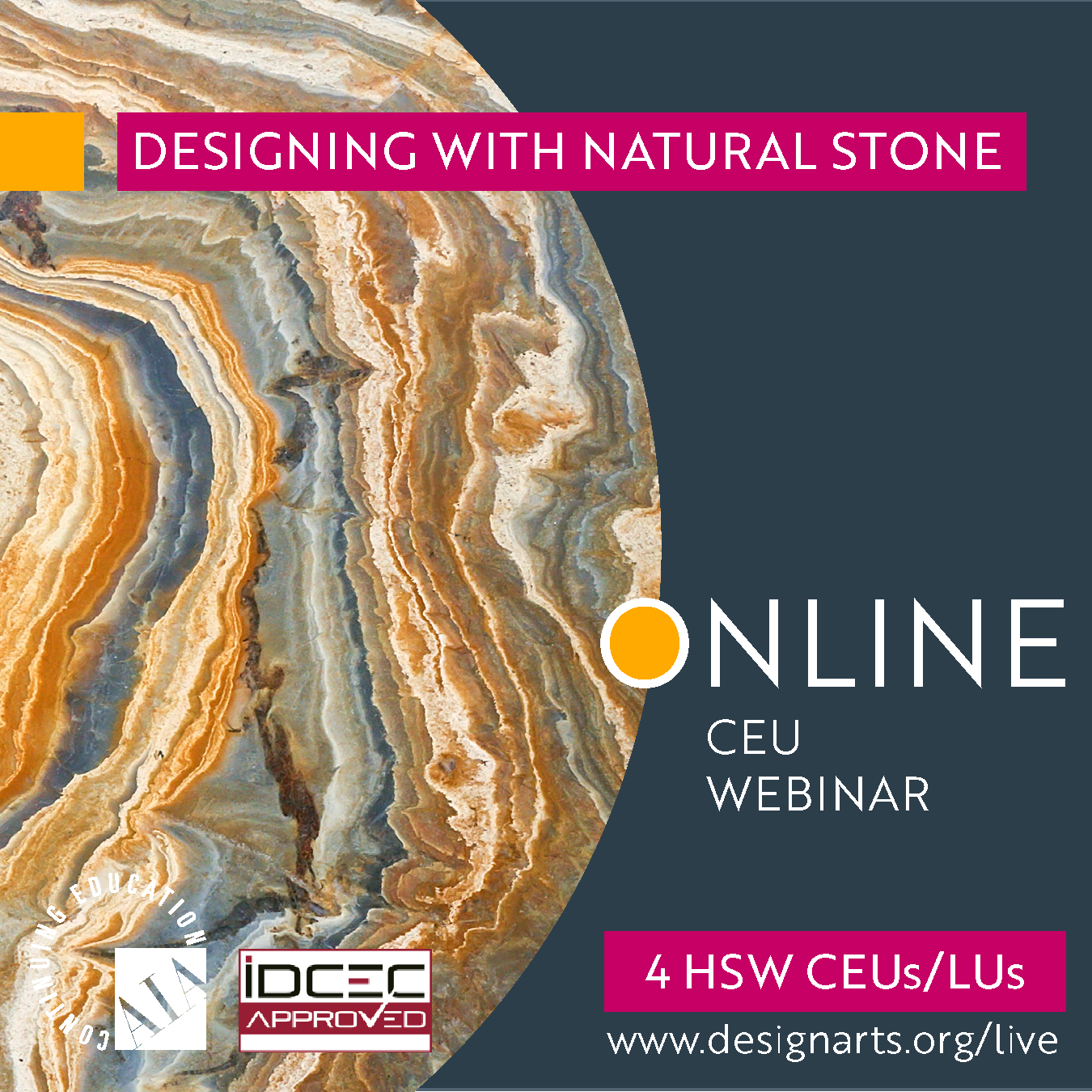 CEU: DESIGNING WITH NATURAL STONE