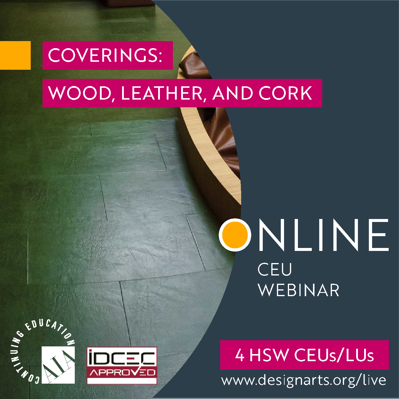 CEU: COVERINGS: WOOD, LEATHER AND CORK
