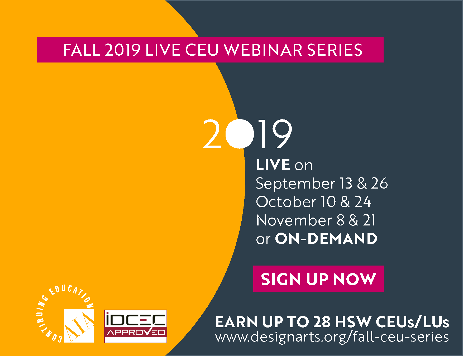 Fall 2019 Live CEU Webinar Series