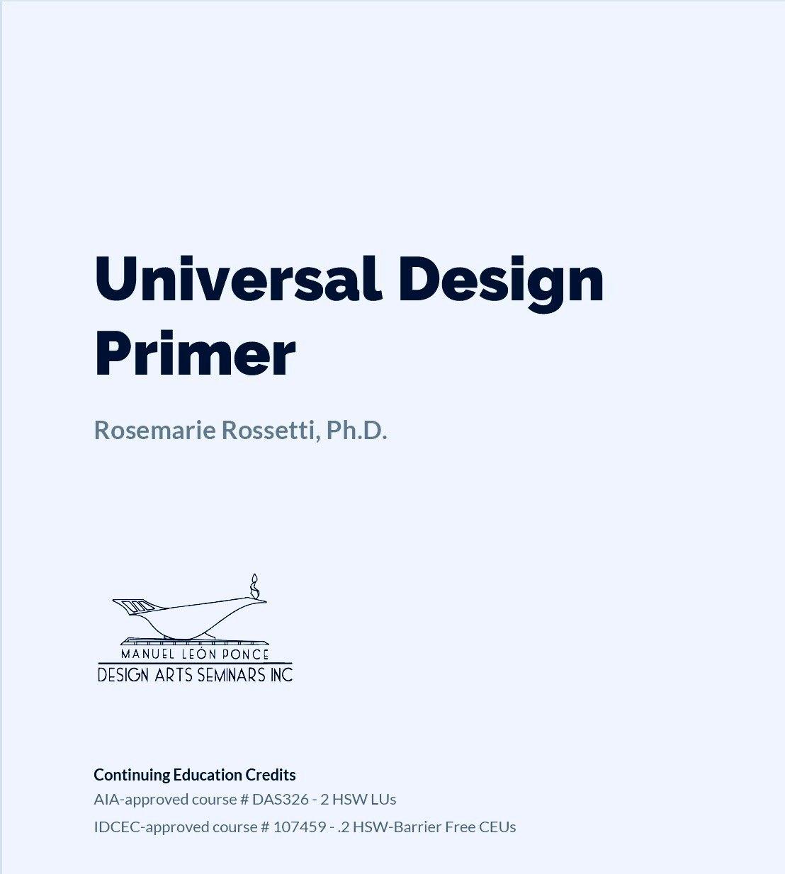 Universal Design Primer