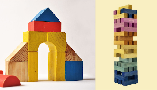 Building blocks to illustrate building for tomorrow