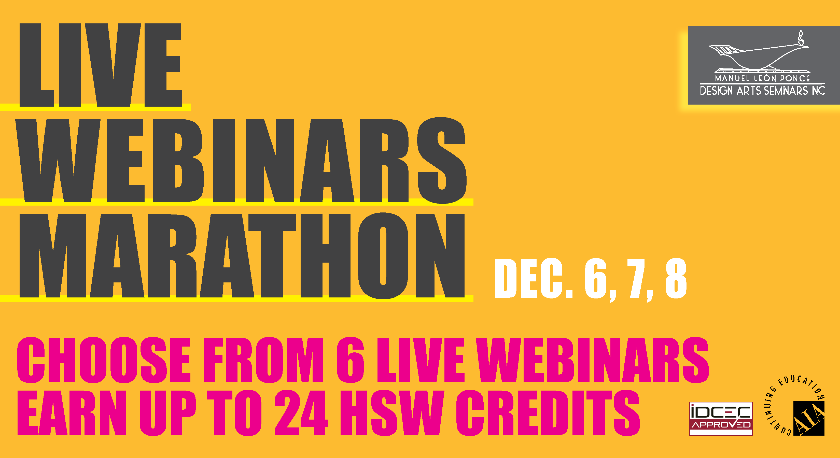 Live Webinars Marathon